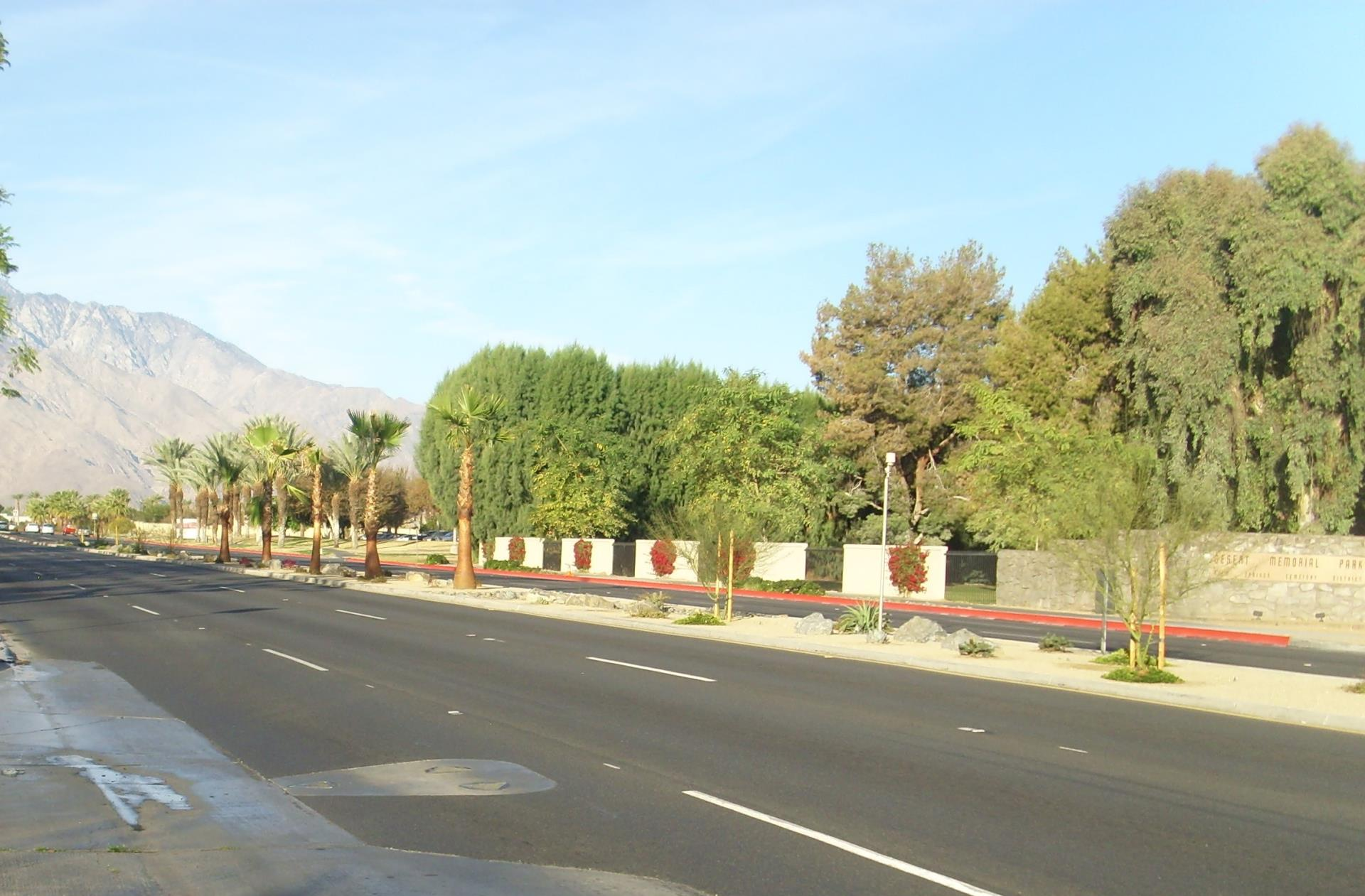 East Palm Canyon Median Hardscape Improvements