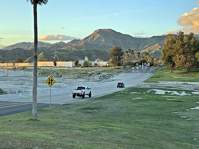 Cone Zone Alert - Cathedral Canyon Drive has reopened at the wash