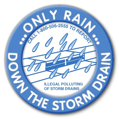 Only Rain Down the Drain Logo